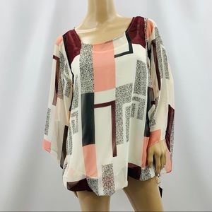 Alfani Woman Two Layer Gallery Mood Blouse